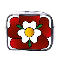 Flower Rose Glass Church Window Mini Toiletries Bags