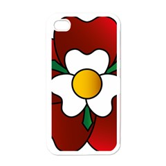 Flower Rose Glass Church Window Apple iPhone 4 Case (White)