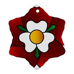 Flower Rose Glass Church Window Ornament (Snowflake)