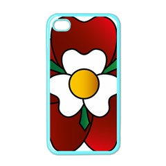 Flower Rose Glass Church Window Apple iPhone 4 Case (Color)