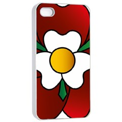 Flower Rose Glass Church Window Apple Iphone 4/4s Seamless Case (white)
