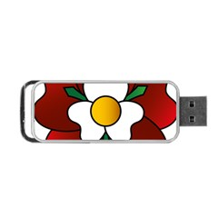 Flower Rose Glass Church Window Portable USB Flash (Two Sides)