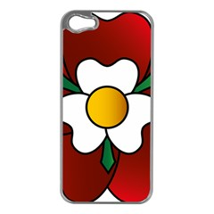 Flower Rose Glass Church Window Apple Iphone 5 Case (silver)