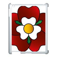 Flower Rose Glass Church Window Apple Ipad 3/4 Case (white)