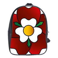 Flower Rose Glass Church Window School Bags (xl)