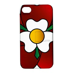 Flower Rose Glass Church Window Apple Iphone 4/4s Hardshell Case With Stand
