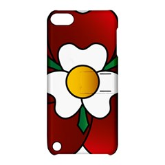 Flower Rose Glass Church Window Apple Ipod Touch 5 Hardshell Case With Stand