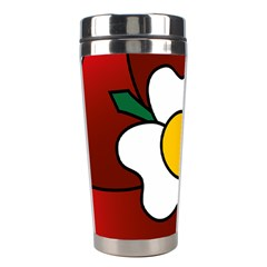 Flower Rose Glass Church Window Stainless Steel Travel Tumblers