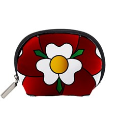 Flower Rose Glass Church Window Accessory Pouches (small)
