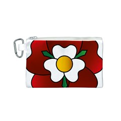 Flower Rose Glass Church Window Canvas Cosmetic Bag (S)