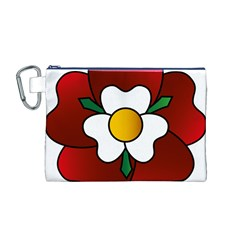 Flower Rose Glass Church Window Canvas Cosmetic Bag (m)