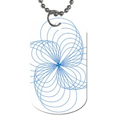 Blue Spirograph Pattern Drawing Design Dog Tag (two Sides)