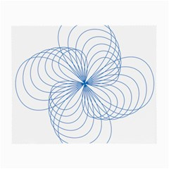 Blue Spirograph Pattern Drawing Design Small Glasses Cloth
