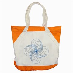 Blue Spirograph Pattern Drawing Design Accent Tote Bag