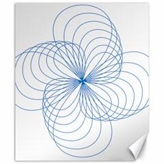 Blue Spirograph Pattern Drawing Design Canvas 20  X 24