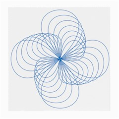 Blue Spirograph Pattern Drawing Design Medium Glasses Cloth (2 Side)