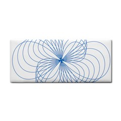 Blue Spirograph Pattern Drawing Design Cosmetic Storage Cases