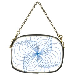 Blue Spirograph Pattern Drawing Design Chain Purses (one Side)