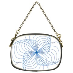 Blue Spirograph Pattern Drawing Design Chain Purses (Two Sides)
