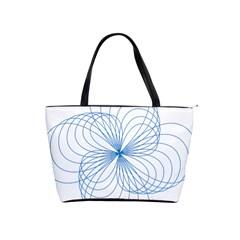 Blue Spirograph Pattern Drawing Design Shoulder Handbags