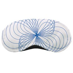 Blue Spirograph Pattern Drawing Design Sleeping Masks