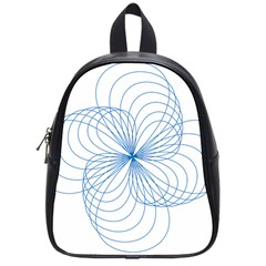Blue Spirograph Pattern Drawing Design School Bags (small)