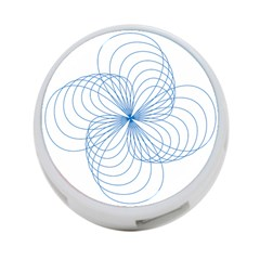 Blue Spirograph Pattern Drawing Design 4 Port Usb Hub (one Side)