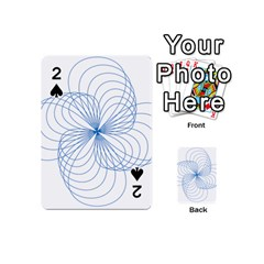 Blue Spirograph Pattern Drawing Design Playing Cards 54 (mini)