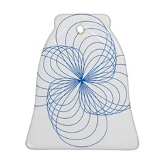 Blue Spirograph Pattern Drawing Design Bell Ornament (two Sides)