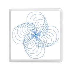 Blue Spirograph Pattern Drawing Design Memory Card Reader (square)