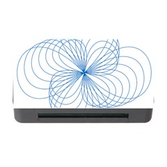 Blue Spirograph Pattern Drawing Design Memory Card Reader With Cf