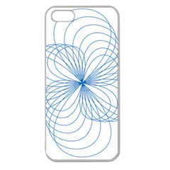 Blue Spirograph Pattern Drawing Design Apple Seamless iPhone 5 Case (Clear)