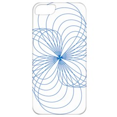 Blue Spirograph Pattern Drawing Design Apple Iphone 5 Classic Hardshell Case