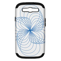 Blue Spirograph Pattern Drawing Design Samsung Galaxy S Iii Hardshell Case (pc+silicone)