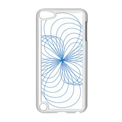 Blue Spirograph Pattern Drawing Design Apple Ipod Touch 5 Case (white)