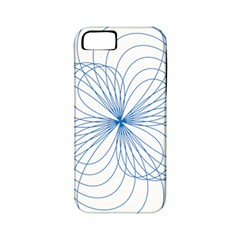 Blue Spirograph Pattern Drawing Design Apple iPhone 5 Classic Hardshell Case (PC+Silicone)