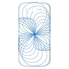 Blue Spirograph Pattern Drawing Design Samsung Galaxy S3 S III Classic Hardshell Back Case