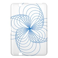 Blue Spirograph Pattern Drawing Design Kindle Fire Hd 8 9