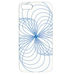 Blue Spirograph Pattern Drawing Design Apple Iphone 5 Hardshell Case With Stand