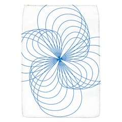 Blue Spirograph Pattern Drawing Design Flap Covers (s)