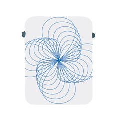 Blue Spirograph Pattern Drawing Design Apple Ipad 2/3/4 Protective Soft Cases