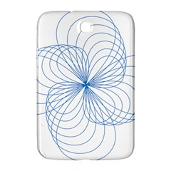 Blue Spirograph Pattern Drawing Design Samsung Galaxy Note 8 0 N5100 Hardshell Case