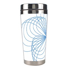 Blue Spirograph Pattern Drawing Design Stainless Steel Travel Tumblers