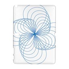 Blue Spirograph Pattern Drawing Design Galaxy Note 1