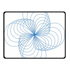 Blue Spirograph Pattern Drawing Design Double Sided Fleece Blanket (small)