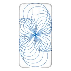 Blue Spirograph Pattern Drawing Design Samsung Galaxy S5 Back Case (white)