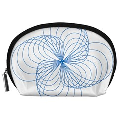 Blue Spirograph Pattern Drawing Design Accessory Pouches (large)