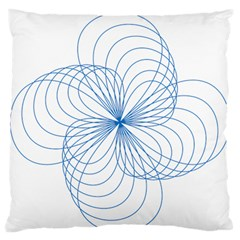 Blue Spirograph Pattern Drawing Design Standard Flano Cushion Case (one Side)