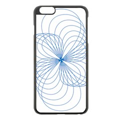 Blue Spirograph Pattern Drawing Design Apple Iphone 6 Plus/6s Plus Black Enamel Case