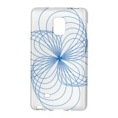 Blue Spirograph Pattern Drawing Design Galaxy Note Edge